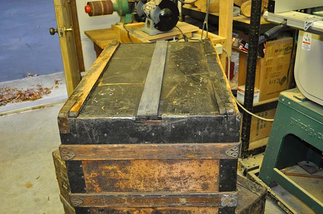 Antique Steamer Trunk Bottom Repair