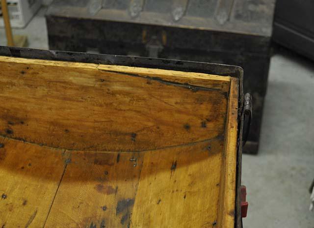 Vintage Steamer Trunk Lid Repair
