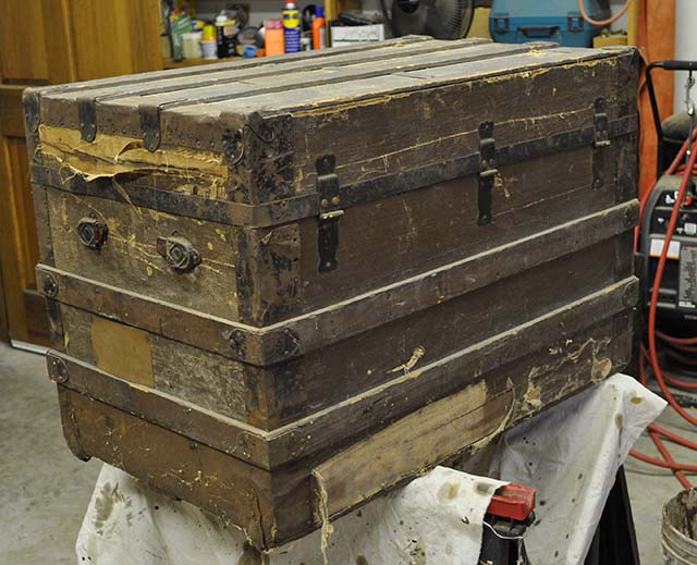 Antique Steamer Trunk Restored