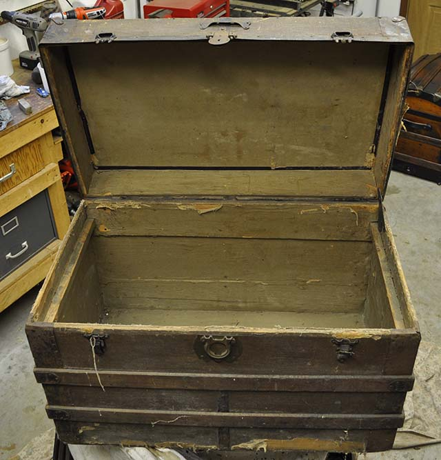 Antique Trunks Refinish Repair Restore Paul Pat Morse
